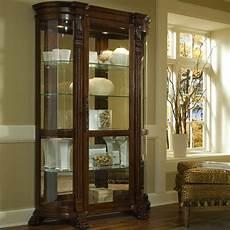 pulaski foxcroft curved end curio cabinet 102003