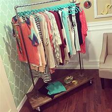 one thrifty diy clothing rack 30 minute project