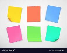 Post It Memo Multicolor Paper Notes Post It Note Royalty Free Vector
