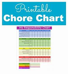 My Responsibility Chart Responsibility And Chore Chart For Kids With Printable