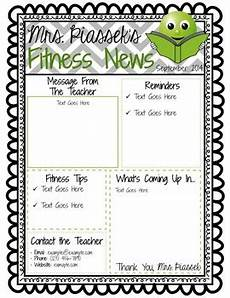Editable Classroom Newsletter Classroom Newsletter Template Editable Freebie By Phys Ed