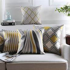 nordic style cushion covers home decor yellow decorative