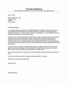 Cover Letter For Maintenance Manager Facilities Manager Cover Letter Sample Sample Resume