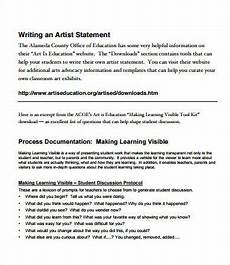 Artist Statement Sample Artist Statement Examples 8 Free Pdf Documents Download