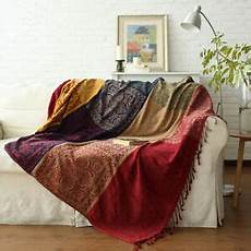 chenille jacquard tassels throw blankets bed