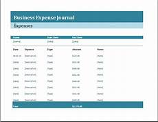 Expenses Journal Business Expense Journal Template Word Amp Excel Templates
