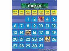 Scholastic Calendar Pocket Chart Scholastic Teacher S Friend Spanish Monthly Calendar