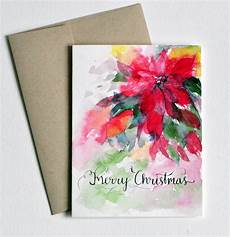 Water Color Cards Hand Lettered Hand Painted Watercolor Christmas Card