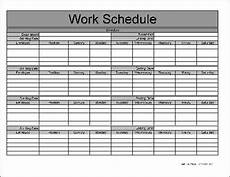 Monthly Employee Schedule Template Free Download Free Software Monthly Employee Schedule Templates
