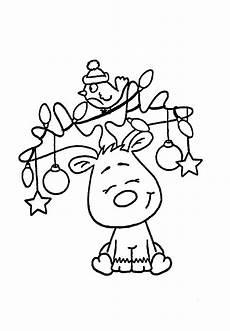 Malvorlage Weihnachtsbaum Einfach Weihnachts Elch Weihnachtsmalvorlagen Weihnachten