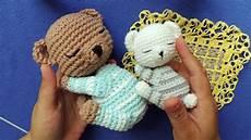 como hacer osito beb 201 dormil 211 n y colchita a crochet 3 3