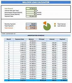 Loan Calculator With Balloon Excel Finance Templates 187 Exceltemplate Net