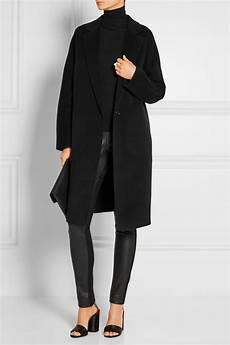 donna karan coats for donna karan coat in black lyst
