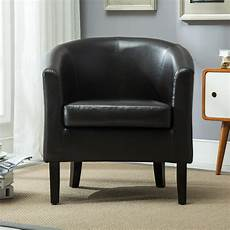 club chair tub faux leather armchair seat accent living