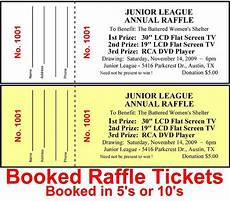 Raffell Tickets 500 Raffle Tickets Drawing Custom Printed Staple Booked