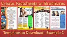 How To Make A Fact Sheet On Word Make A Brochure Factsheet That Rocks Microsoft Word