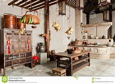 Ancient Kitchen Designs China Old Kitchen Furnishings Stock Photo Image Of