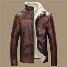 coats and jackets new 2015 winter warm mens genuine leather jacket retro
