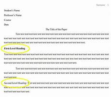 Mla Heading Examples Mla Format Heading Next Level Formatting With Wr1ter Com