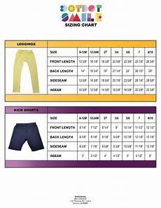 Soffe Shorts Size Chart Dotdotsmile Size Charts And Kick Shorts Dot Dot