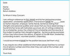 Letter Sample For Teacher Writing A Reference Letter For Teacher 6 Sample Letters