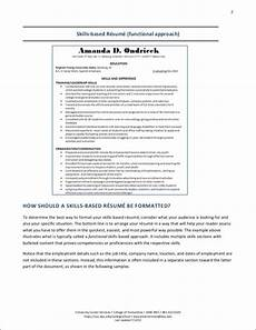 Skill Based Resume Example Free Resumes For Career Changers And Tips To Making Your
