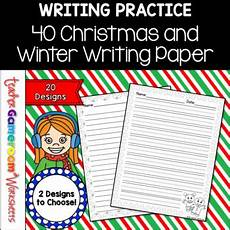 Christmas Themed Writing Paper 40 Christmas Themed Writing Paper By Teacher Gameroom Tpt