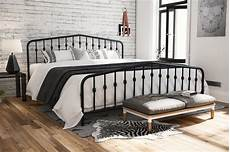novogratz bushwick metal bed in black king size walmart