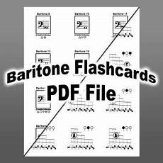 Baritone Bc Chart Baritone Amp Euphonium Chart And Flashcards
