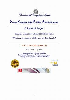 d italia direct reporting pdf foreign direct investment fdi in italy what are