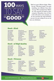 Good Another Word Fun With Words 100 Ways To Say Good