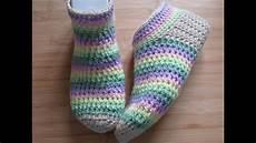 crochet socks crochet slippers bed socks tutorial happy crochet