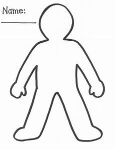 Body Template Outline Human Body Outline Printable Clipart Best