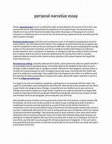 Personal Narrative Essay Sample Personal Narrative Essay