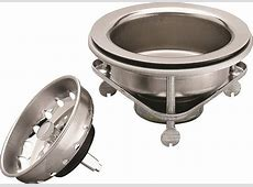 Plumb Pak Pp5416 Thumb Screw Style Kitchen Basket Strainer, Stainless Steel