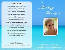 Free Printable Memorial Templates 1000 Images About Memorial Service On Pinterest