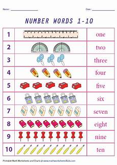 Number Names Chart Printable Number Names Charts