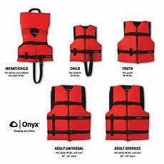 Onyx Life Vest Size Chart Onyx General Purpose Boating Life Jacket Vest