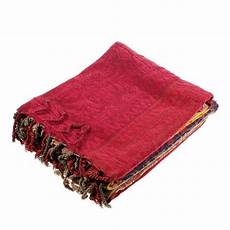 chenille jacquard tassels throw blankets for bed