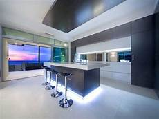 strisce a led per interni modern island kitchen design using tiles kitchen photo