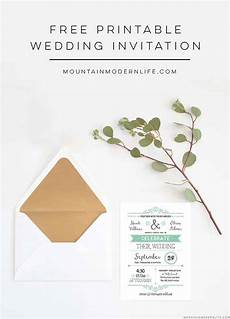 Wedding Invites Templates Free Printable Free Wedding Invitation Template Mountainmodernlife Com
