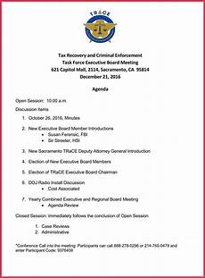 How To Write An Agenda For A Board Meeting Board Meeting Agenda Template 10 Free Samples Formats