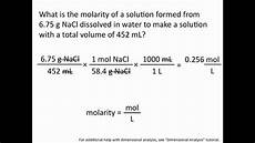 Chemistry Concentration Problems Molarity Chemistry Tutorial Youtube
