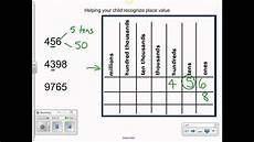 using place value chart youtube