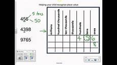 International Value Chart Using Place Value Chart Youtube