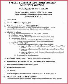 Board Meeting Templates Free How To Create A Board Meeting Agenda 12 Templates