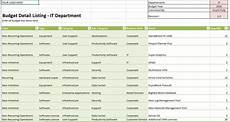 It Department Budget Template 7 Excel Templates To Help Manage Your Budget Techrepublic