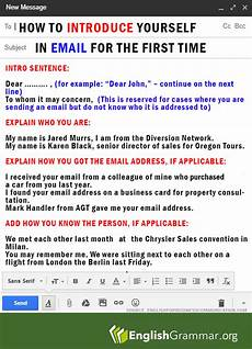 Email Introducing Yourself English Grammar Want To Introduce Yourself To Someone In