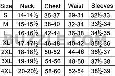 L Shirt Size Chart India Complete Men S Shirt Size Chart And Sizing Guide All Guys
