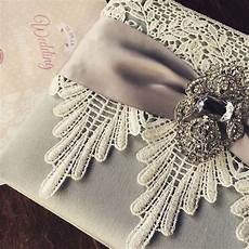 Lace Wedding Invitation Lace Wedding Invitations Featuring Silver Dupioni Silk